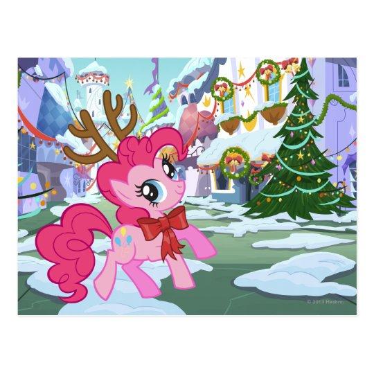 Pinkie Pie Reindeer Postcard