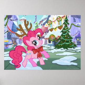 Pinkie Pie Reindeer Poster