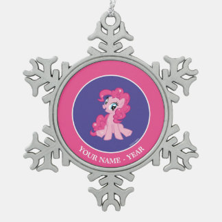 Pinkie Pie Snowflake Pewter Christmas Ornament