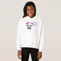 Pinkie Pinky Panda Girls Fleece Pullover Hoodie