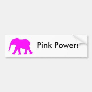 Pinkie the Elephant Bumper Sticker Car Bumper Sticker