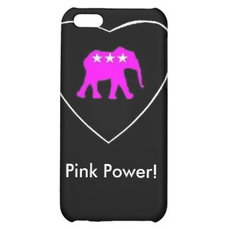 Pinkie The Elephant Pink Power IPhone Case Cover For iPhone 5C