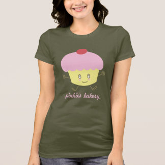 Pinkie's Bakery Cupcake Ladies Basic T-shirt