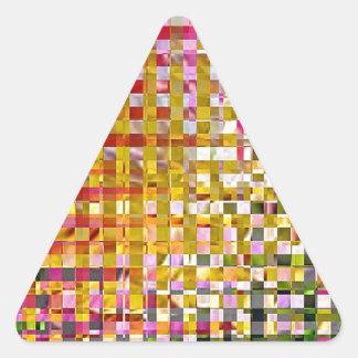 PinkIrisSquared Z.jpg Pegatina Triangular