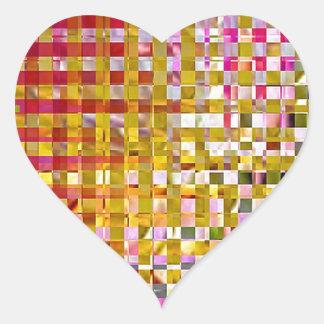 PinkIrisSquared Z.jpg Pegatina En Forma De Corazón
