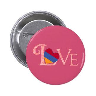 Pinkish Armenian LOVE 2 Inch Round Button