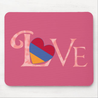 Pinkish Armenian LOVE Mouse Pad