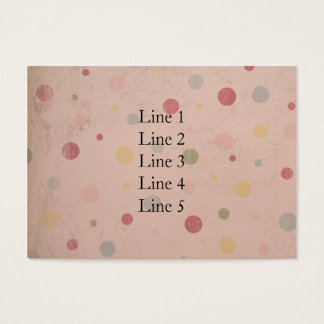 Pinkish Polka Dots Business Card