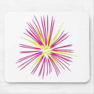 Pinkish-Purple and Gold Fireworks Mouse Pad