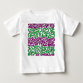 Pinkish Purple and Green Chunky Shapes doodle Tees