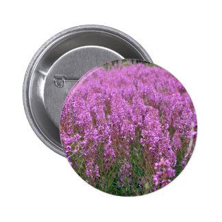 Pinkish purple Greenery 2 Inch Round Button