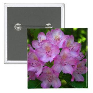 Pinkish purple Rhododendron Catawbiense 2 Inch Square Button