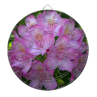 Pinkish purple Rhododendron Catawbiense Dartboard