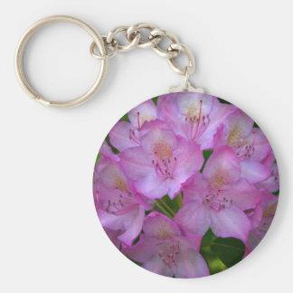 Pinkish purple Rhododendron Catawbiense Keychains