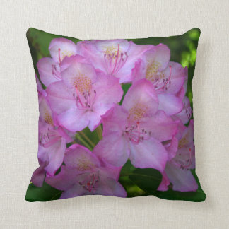 Pinkish purple Rhododendron Catawbiense Throw Pillow