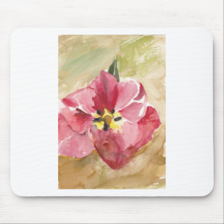 Pinkish Red Tulip Watercolor painting Mouse Pad