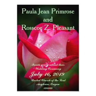 Pinkish Rose Nuptials 5x7 Paper Invitation Card