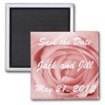 Pinkish Save the Date Fridge Magnet