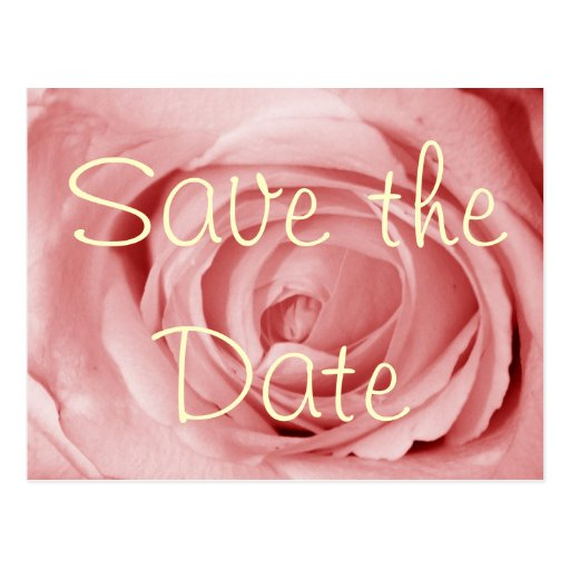 Pinkish Save the Date Postcards