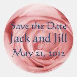 Pinkish Save the Date Sticker