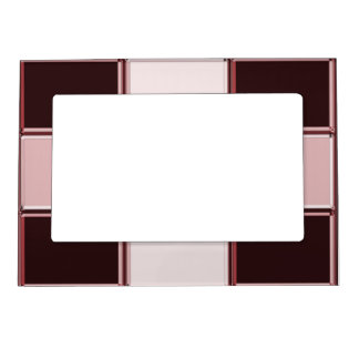 Pinkish Squares Magnetic Picture Frame