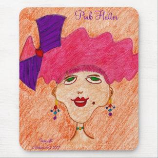 pinkkett, Pink Hatter Mouse Pad