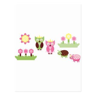 PinkLimeBugs6 Postcard
