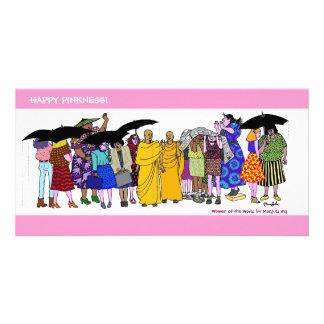 ¡Pinkness feliz! Wow #4 Plantilla Para Tarjeta De Foto
