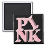 PinkonBlack Breast Cancer Awareness Refrigerator Magnets