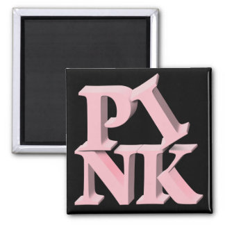 PinkonBlack Breast Cancer Awareness Refrigerator Magnets