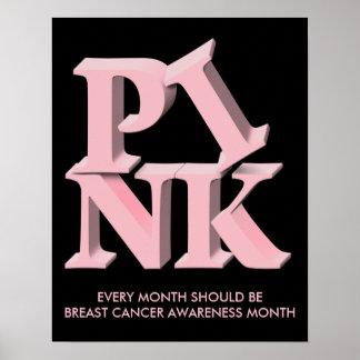 PinkonBlack, CADA MES SI el CÁNCER de BEBREAST… Poster