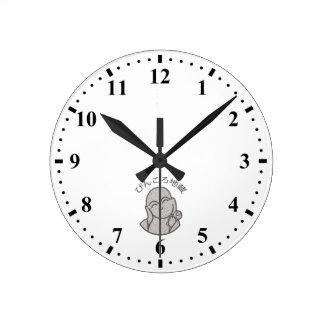Pinkoro Jizo Round Clock