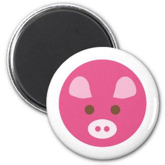 PinkPig1 Imán Redondo 5 Cm