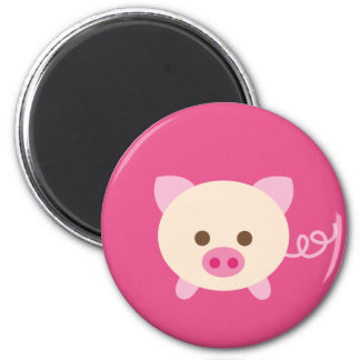 PinkPig2 Imán Redondo 5 Cm