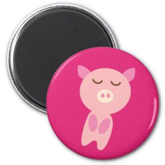 PinkPig3 Imán Redondo 5 Cm