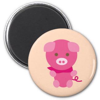 PinkPig6 Imán Redondo 5 Cm