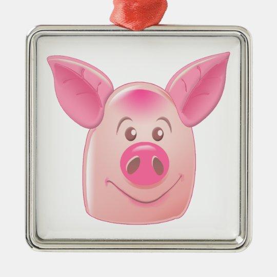 PinkPig Metal Ornament
