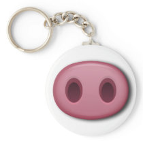 PinkPig Snout Keychain