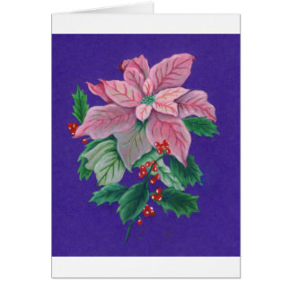PinkPoinsettia2 Card