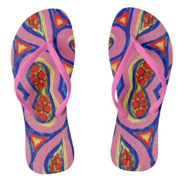 Beach Themed PinkPop Flip Flops