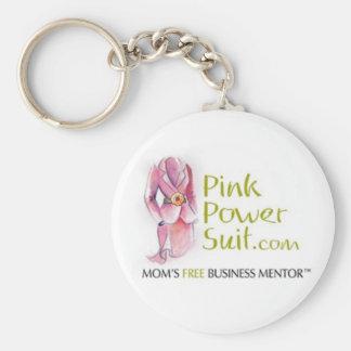 PinkPowerSuit Logo Keychain