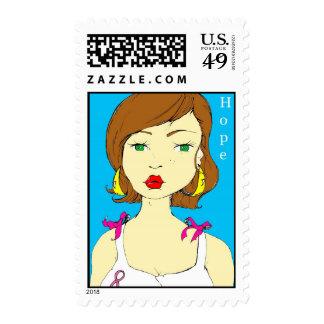 pinkribbon copy postage stamp