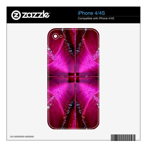 PinkRose Petal Ark - Illuminated Sparkle Decals For The iPhone 4S
