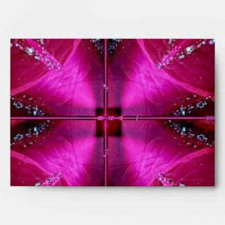 PinkRose Rose Petal Art - Graphic Design Envelope
