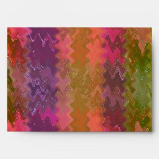 PinkRose Rose Petal Waves- Graphic Design Envelope