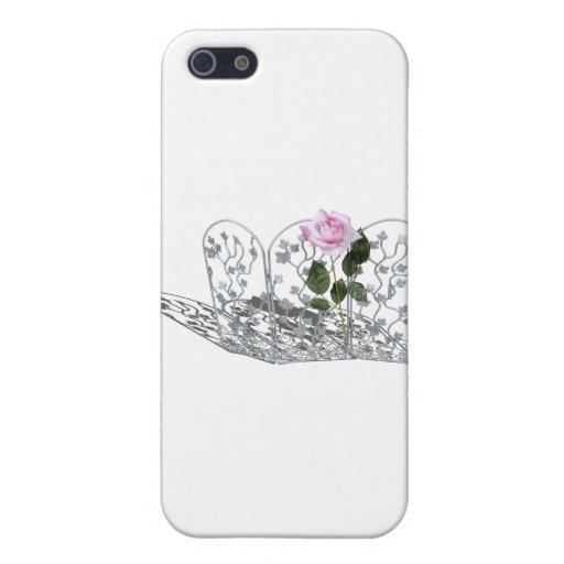 PinkRoseSilverTrellis050512.png iPhone 5 Protectores
