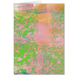 Pinks and Ferns.jpg Greeting Cards