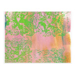 Pinks and Ferns.jpg Postcard