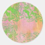 Pinks and Ferns.jpg Round Sticker