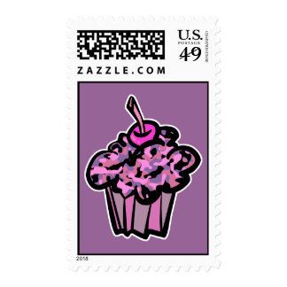 pinks and purples camouflage cupcake stamps